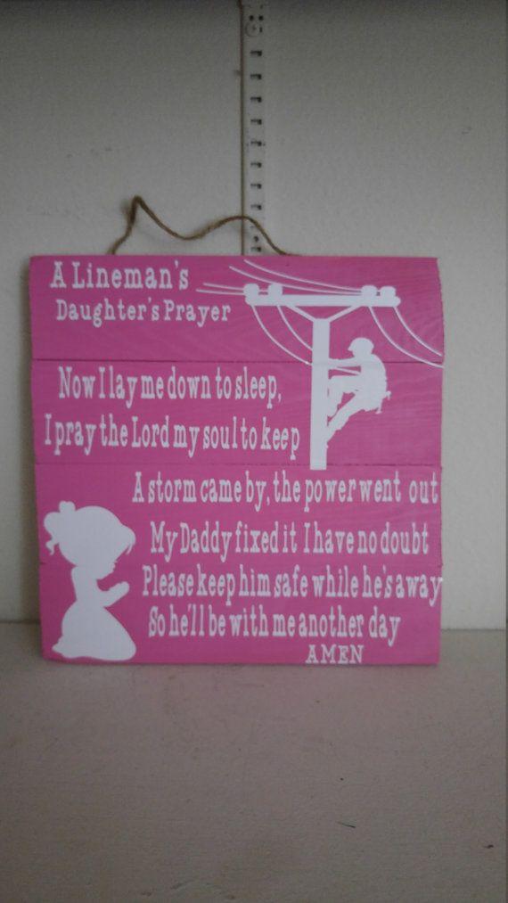 Lineman S Daughter S Prayer Lineman S Son S Prayer