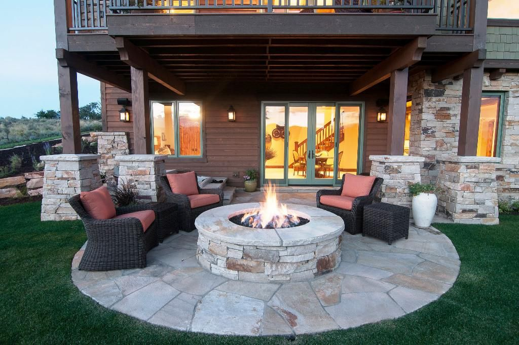 Patio Firepit Table Outdoor Fire Pit