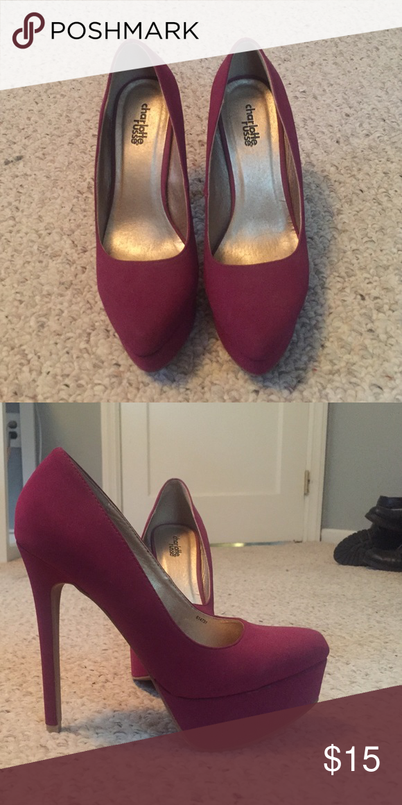 Charlotte Russe raspberry colored pumps Charlotte Russe raspberry colored pumps Charlotte Russe Shoes Heels