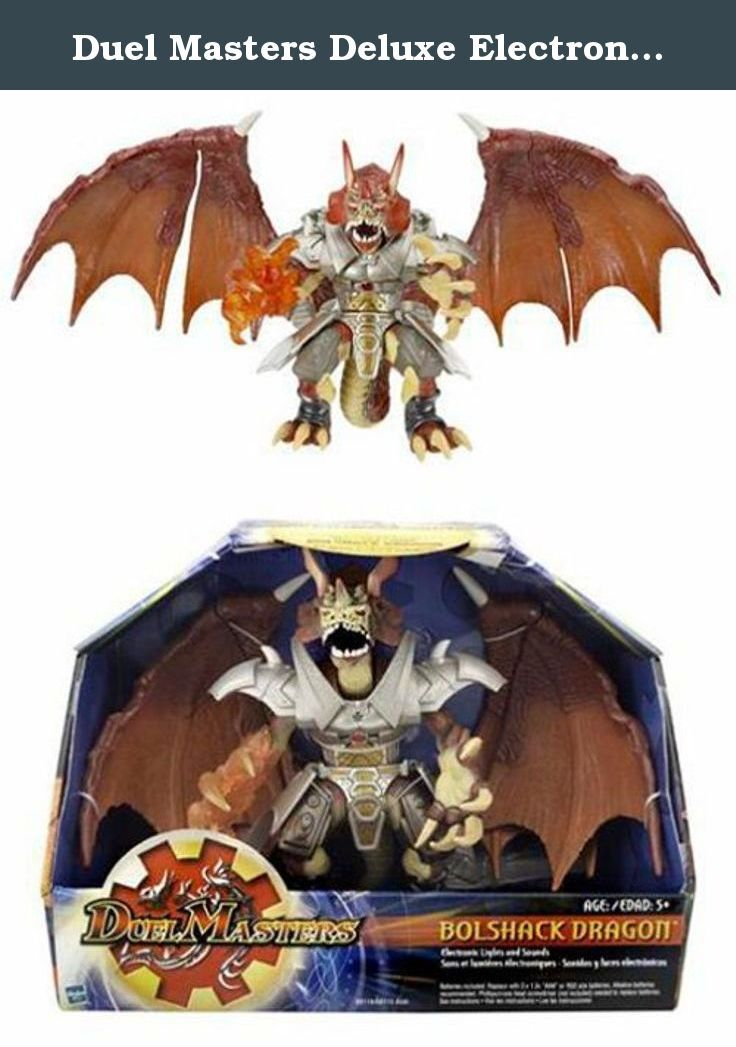 Duel Masters Deluxe Electronic Action Figure Bolshack Dragon Recreate The Fury Of The Duel With The Amazing Super