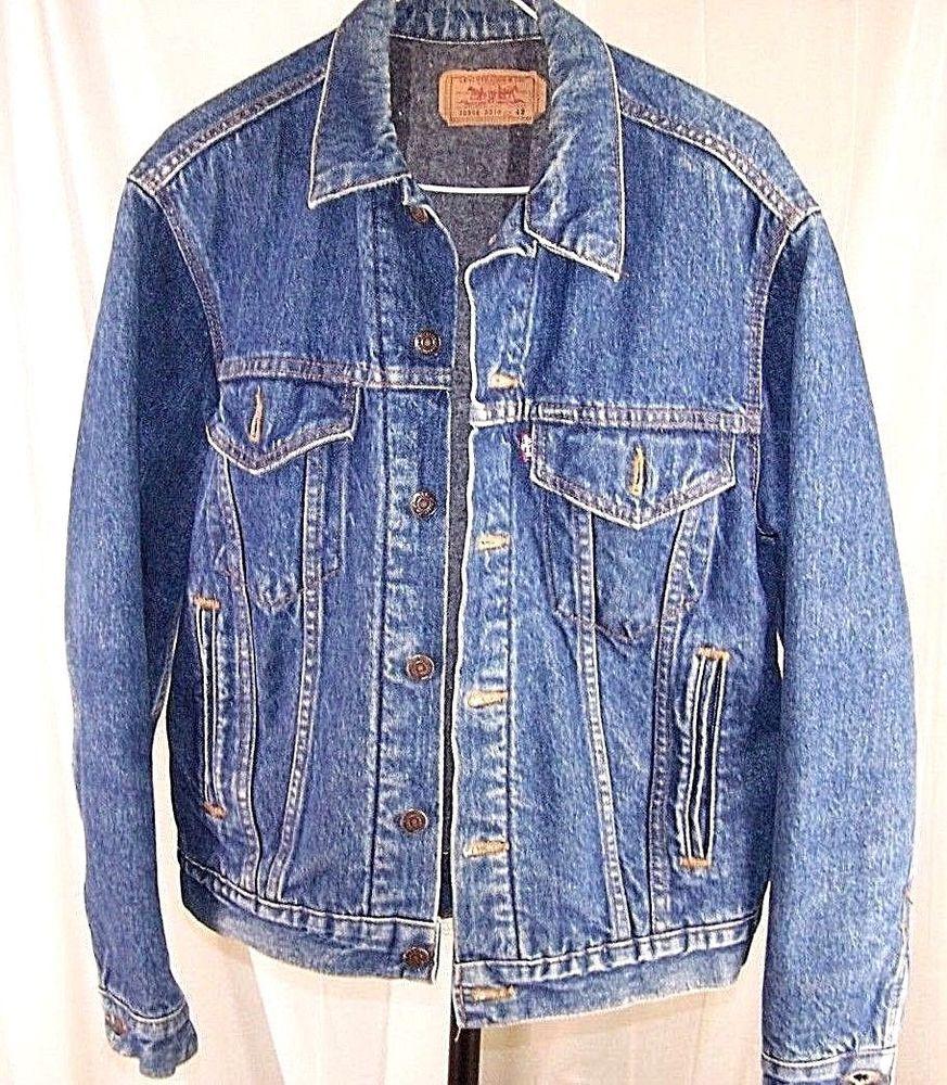 Vintage Levi Blue Denim Blanket Lined Jean Trucker Jacket Size 42 70506 0316 Levi Denim Jacket Men Mens Jackets Denim Jacket