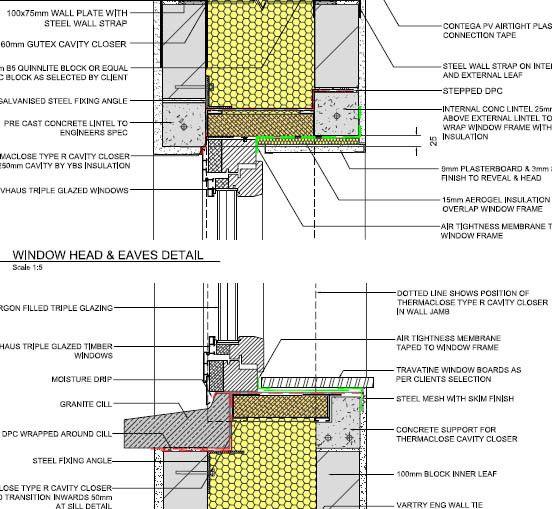 Passivhaus Wide Cavity Cold Bridge Reduced Window Closer Detail Without The Ply Via Beyondpassive Passive House Design Window Architecture Passive Design