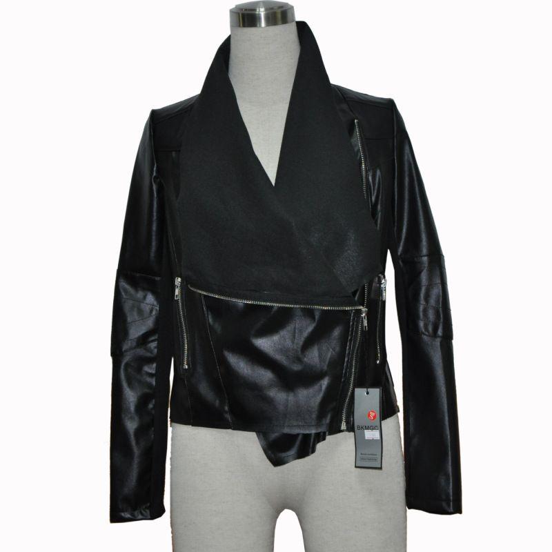 Hot! La nouvelle 2015 printemps femme en cuir veste MS Punk vent manteau de cultiver sa moralité de haute qualité Rivets de fourrure femme vêtements dans En cuir et Suède de Femmes de Vêtements et Accessoires sur AliExpress.com   Alibaba Group