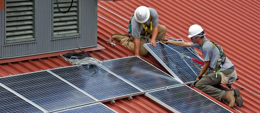 Training in The UK's Renewables Sector Solar panels