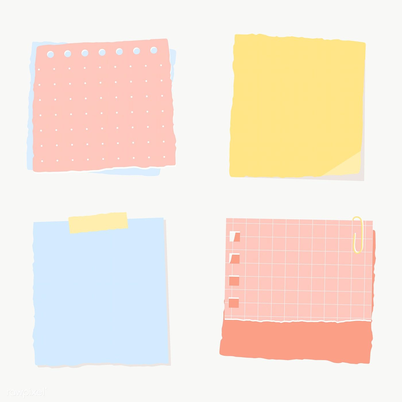 Colorful Paper Note Collection Social Ads Template Transparent Png Free Image By Rawpixel Com Manotang Note Paper Torn Paper Sticky Notes Collection