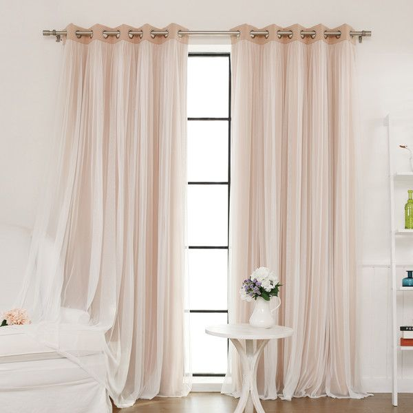 Tulle Blackout Grommet Curtain Panel   Joss & Main