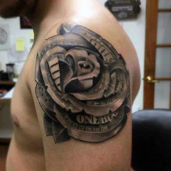 Top 81 Money Rose Tattoo Ideas 2020 Inspiration Guide Money Rose Tattoo Rose Tattoos For Men Rose Tattoo