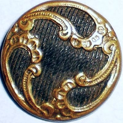 Victorian Brass On Fabric Perfume Button