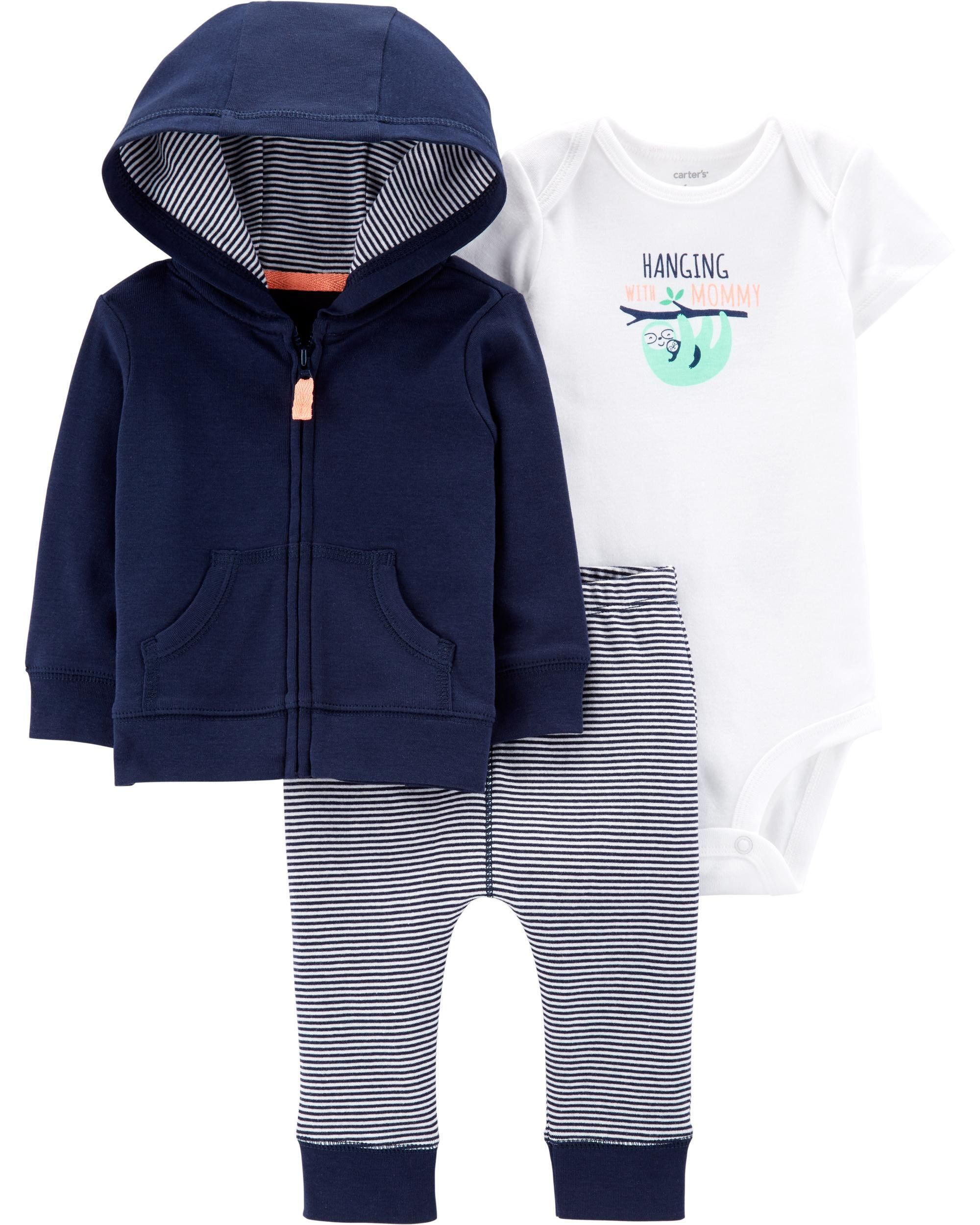 004df047a 3-Piece Little Jacket Set | Baby Inc. | Carters baby boys, Hoodies ...