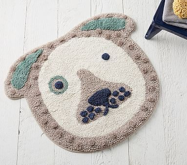 Eco Chic Puppy Bath Mat Pottery Barn Kids Bébe Girl Things - Taupe bath rug for bathroom decorating ideas