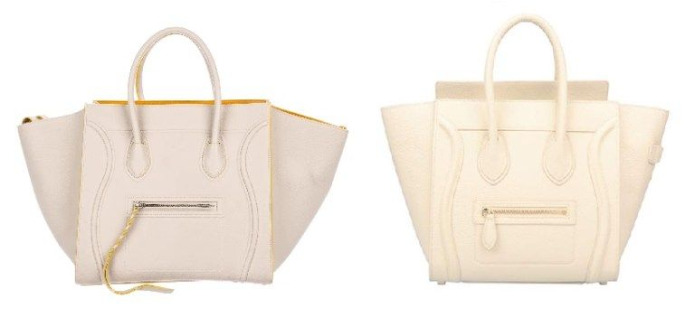 2c21868e9b0d Celine Cream Luggage Handbag and Celine Bags Dupes