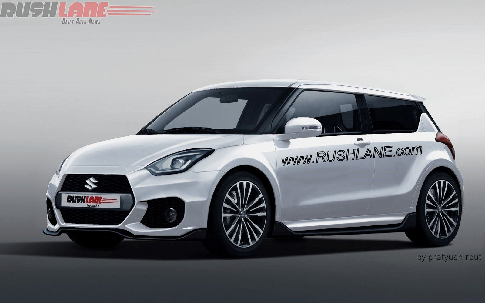 2017 Suzuki Swift Sport Front Three Quarter Rendering 1600x1000