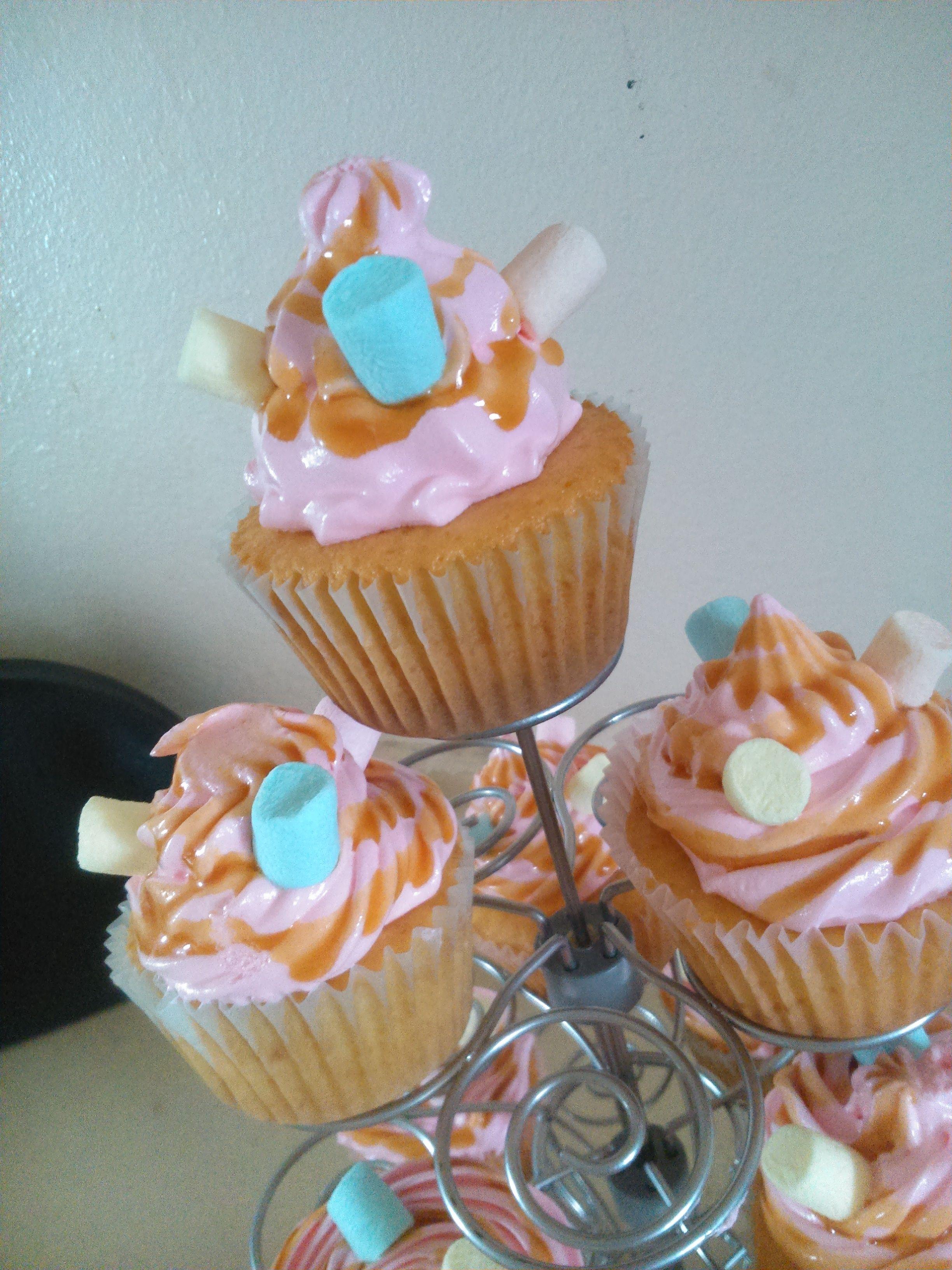 Cupcake de Caramelo y Malvavisco