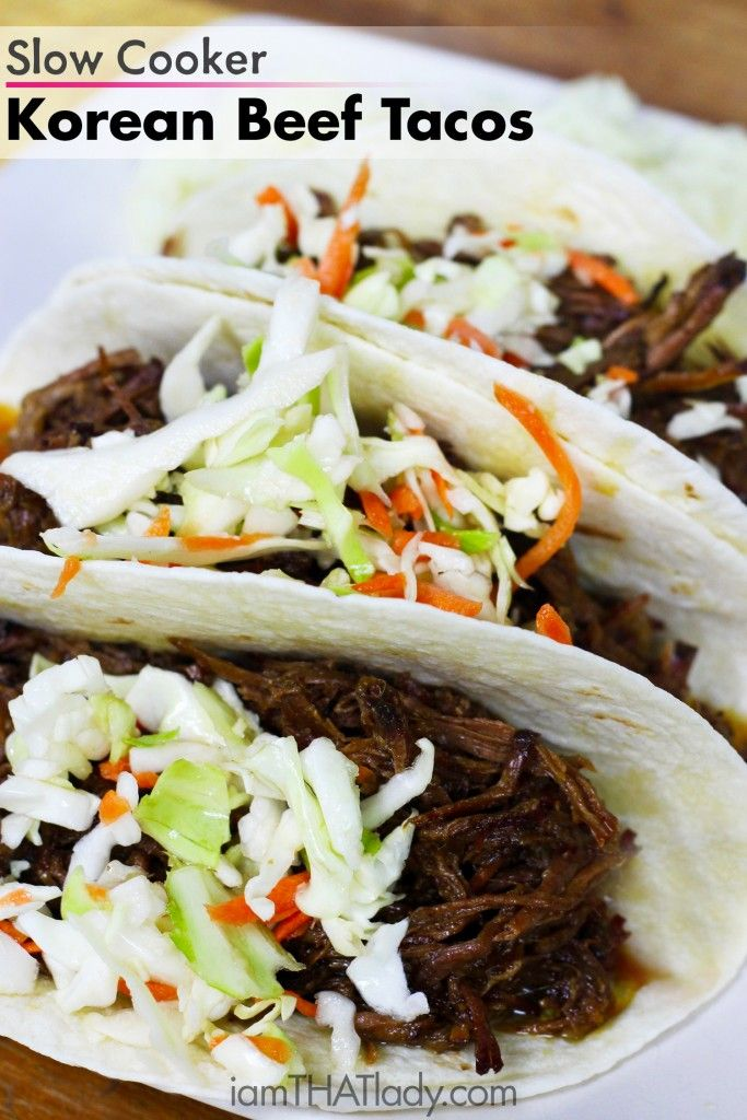 Slow Cooker Beef Pot Roast: Slow Cooker Korean Beef Tacos