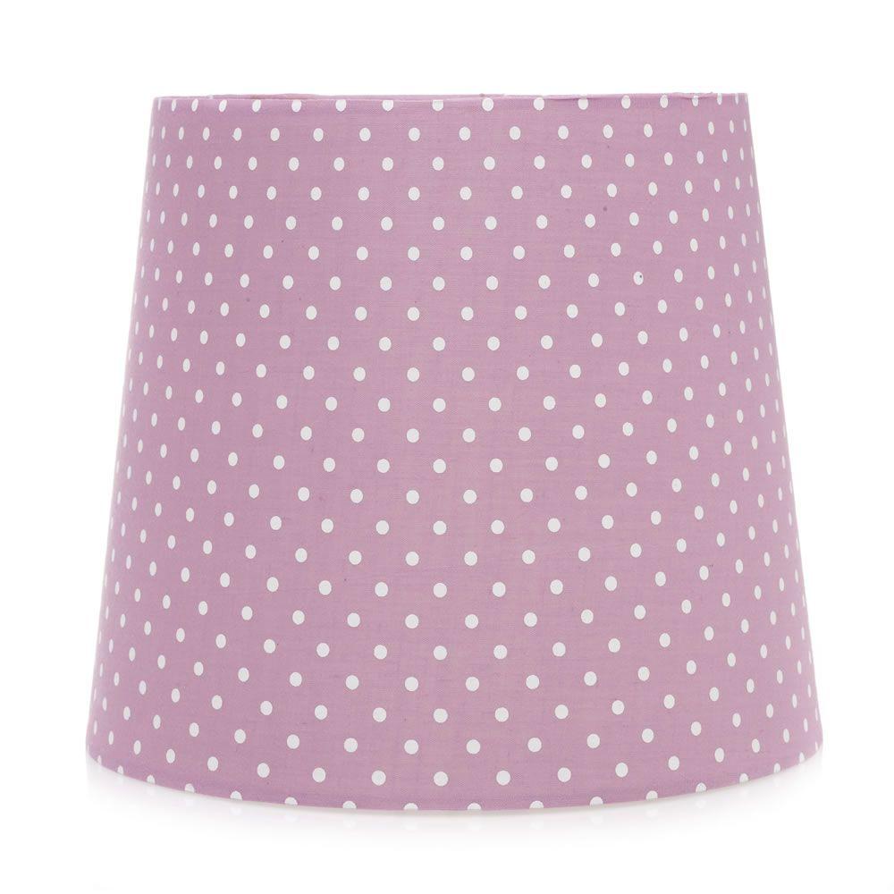 Wilko Polka Dot Kids Pendant Shade Pink 25cm Lampshades