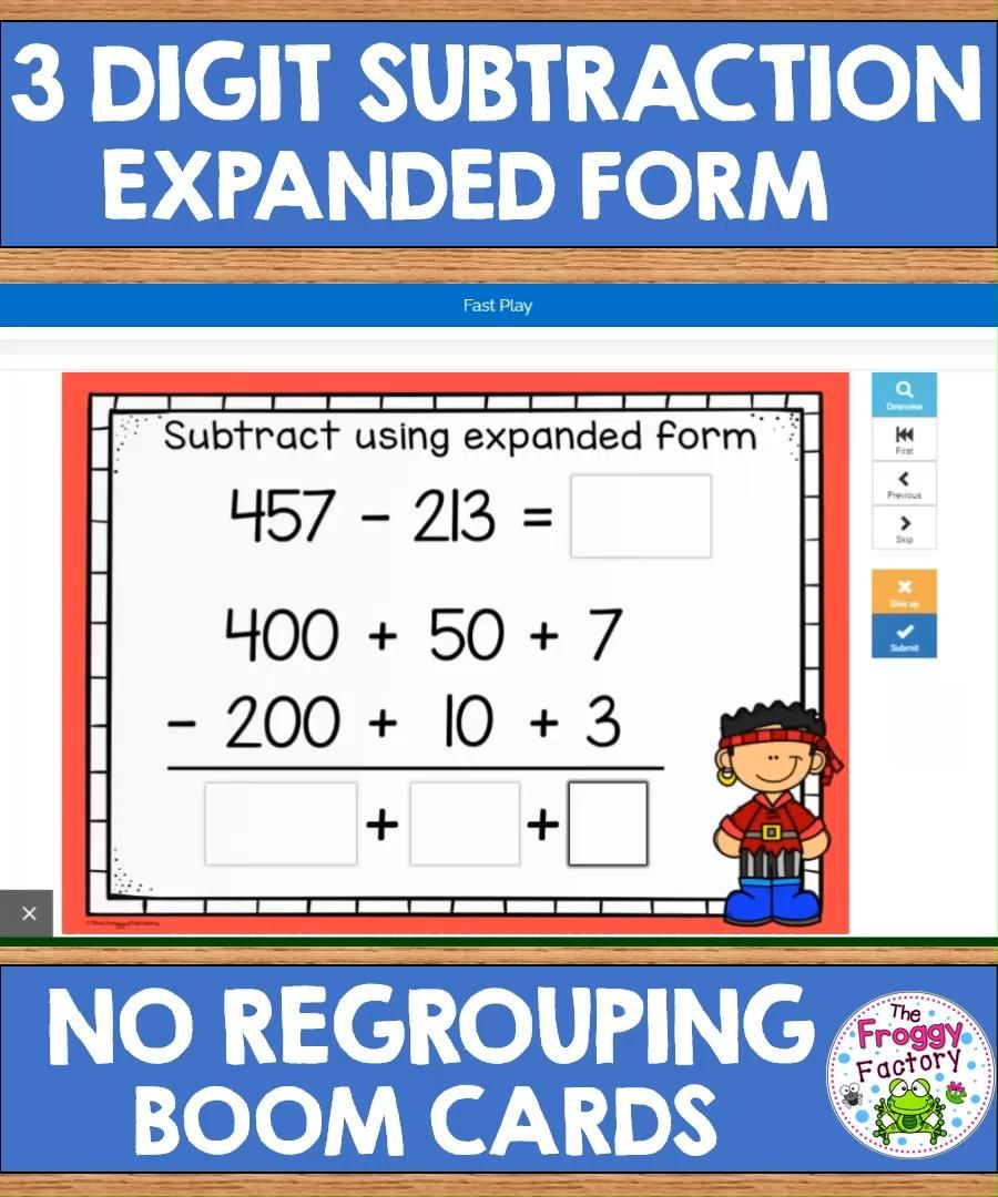 3 Digit Subtraction Expanded Form Boom Cards Video Addition And Subtraction Practice Subtraction Practice Math Resources Addition using expanded algorithm