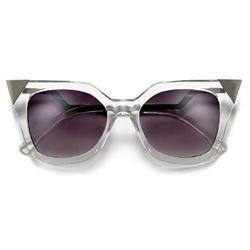 Designer Inspired Zig Zag Arms Angular Silhouette Cat Eye High Fashion Sunglasses