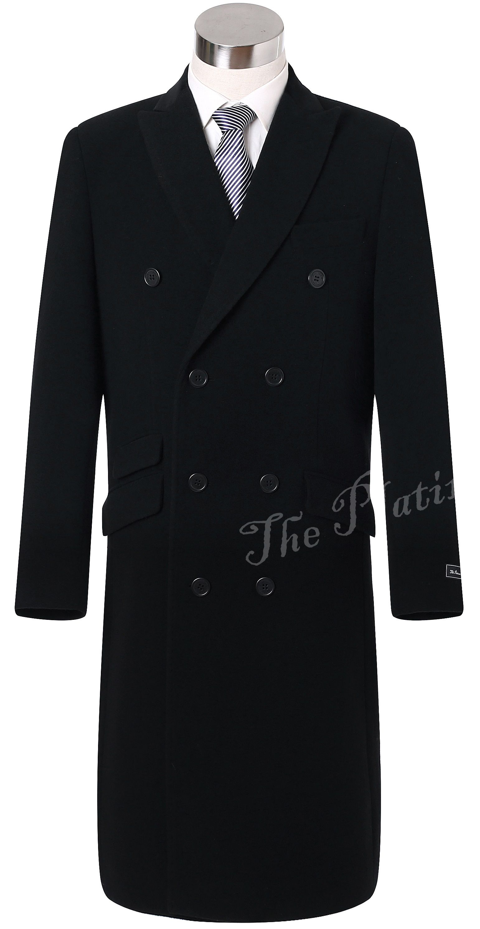 Mens overcoat double cashmere