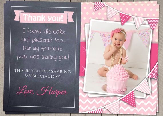 PERSONALIZED Birthday Thank You Card Printable Download – Personalized Birthday Thank You Cards