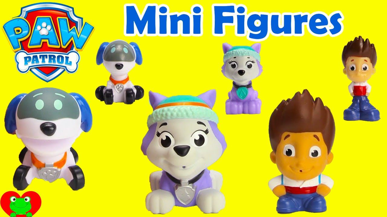 Paw Patrol Mini Figures Everest Ryder And Robo Dog Paw Patrol Mini Figures Paw Patrol Paw Patrol Toys