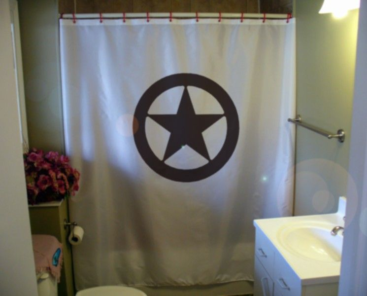 Texas Shower Curtain Star Circle Lone Star State By Eternalart