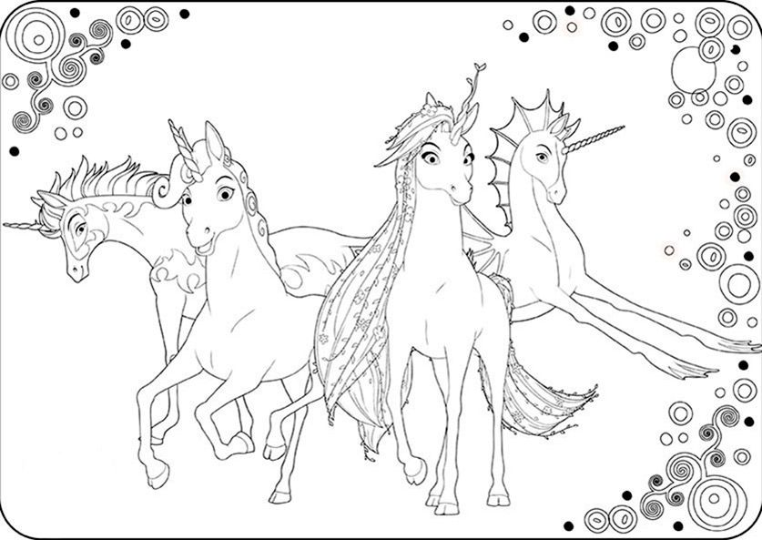 Mia And Me Ausmalbilder Ausmalbilder Unicorn Coloring Pages Horse Coloring Pages Coloring Pages