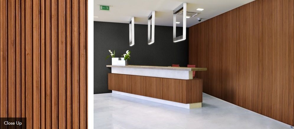 PLYBOO LINEAR LINE APPLICATION STYLE LL2 Bamboo panels