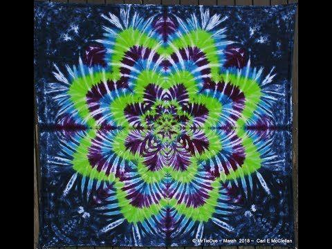 6dcb3ed1c596 How to Tie Dye a Star Flower ~ Tying - YouTube