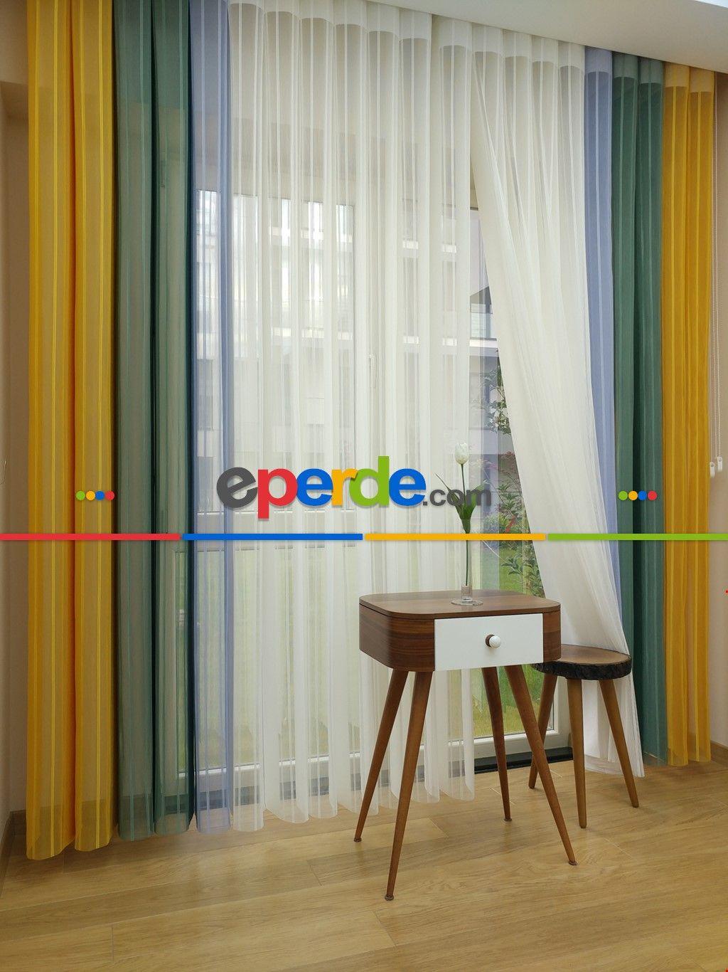Zebra window coverings  Çizgili tül dikey zebra perde  hardal sarı mint yeşili mavi açık
