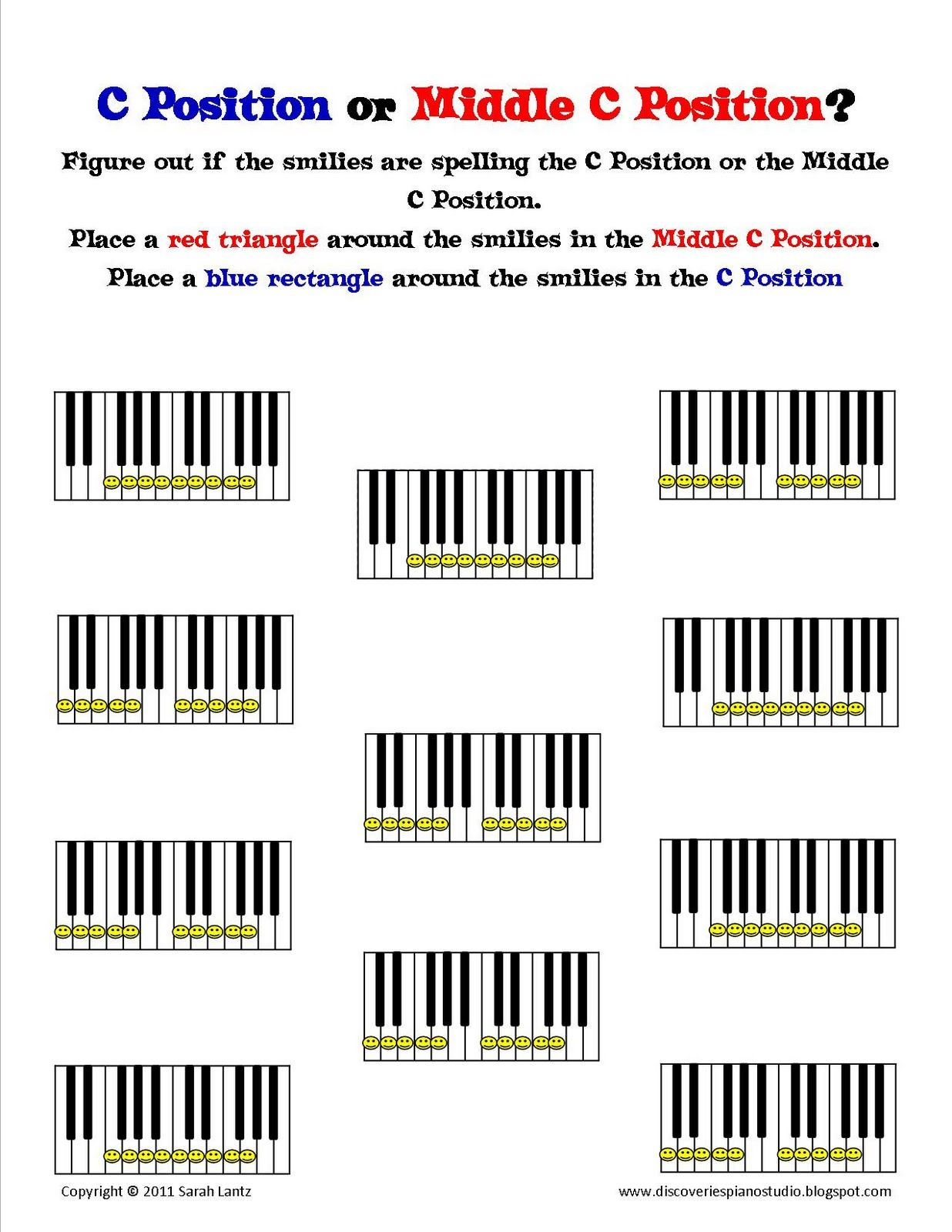 Discoveries Piano Studio New Worksheets To Help Learn C