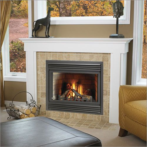 gas fire places are made for recessed or wall surface mounted