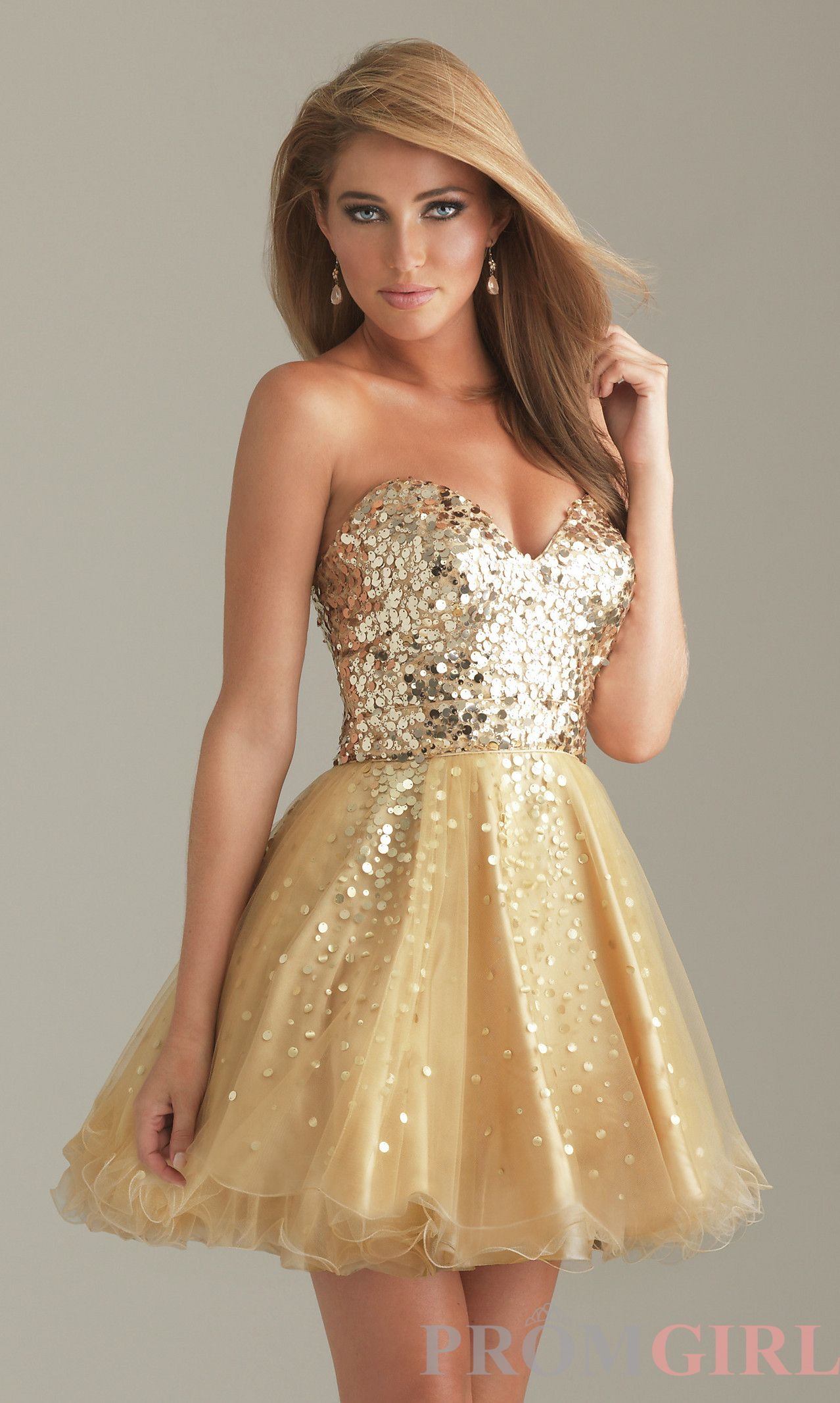 Gold Dresses PromGirl