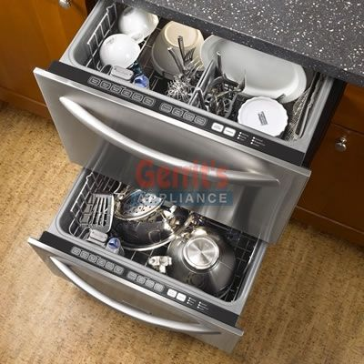 A Undercounter Dishwasher Drawer Style  KitchenAid Double Dishdrawer  KUDD03DTSS