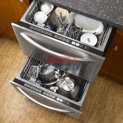 A Undercounter Dishwasher Drawer Style  KitchenAid Double Dishdrawer  KUDD03DTSS