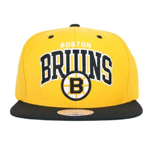3fe99df7e Boston Bruins Team Colors The NHL Arch with Logo SNAPBACK By Mitchell And  Ness