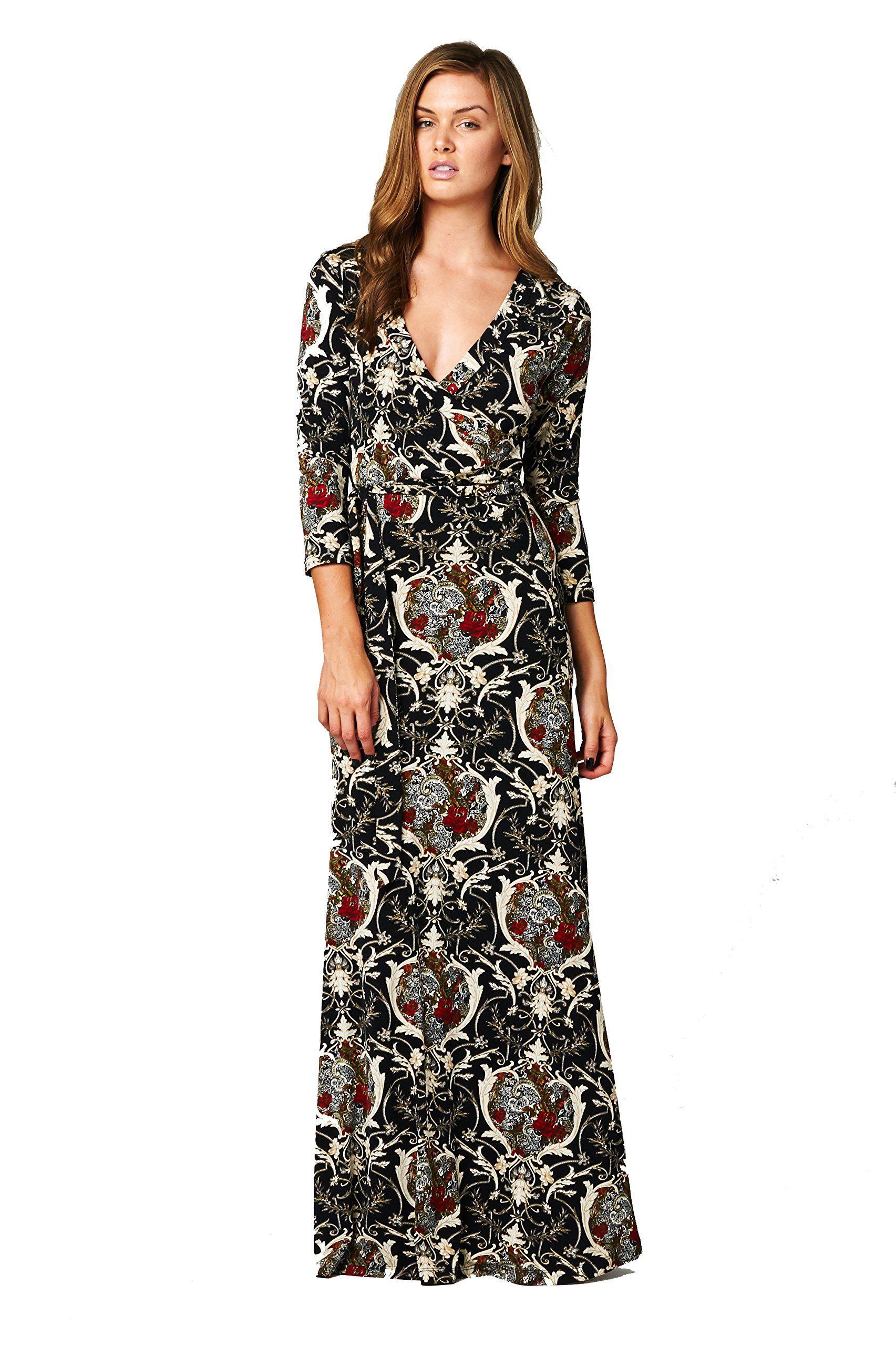 On trend paris dress baroque bohemian sleeve long maxi dress