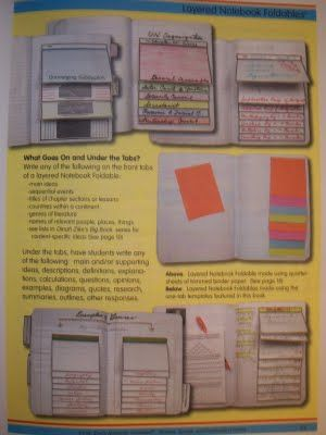 Foldables in a composition book