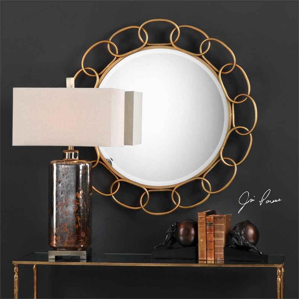 Uttermost circulus round mirror gold in homesweethome