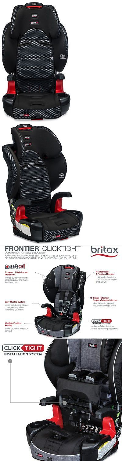 Britax Frontier Clicktight Combination Harness 2 Booster Car Seat Cool Flow Grey