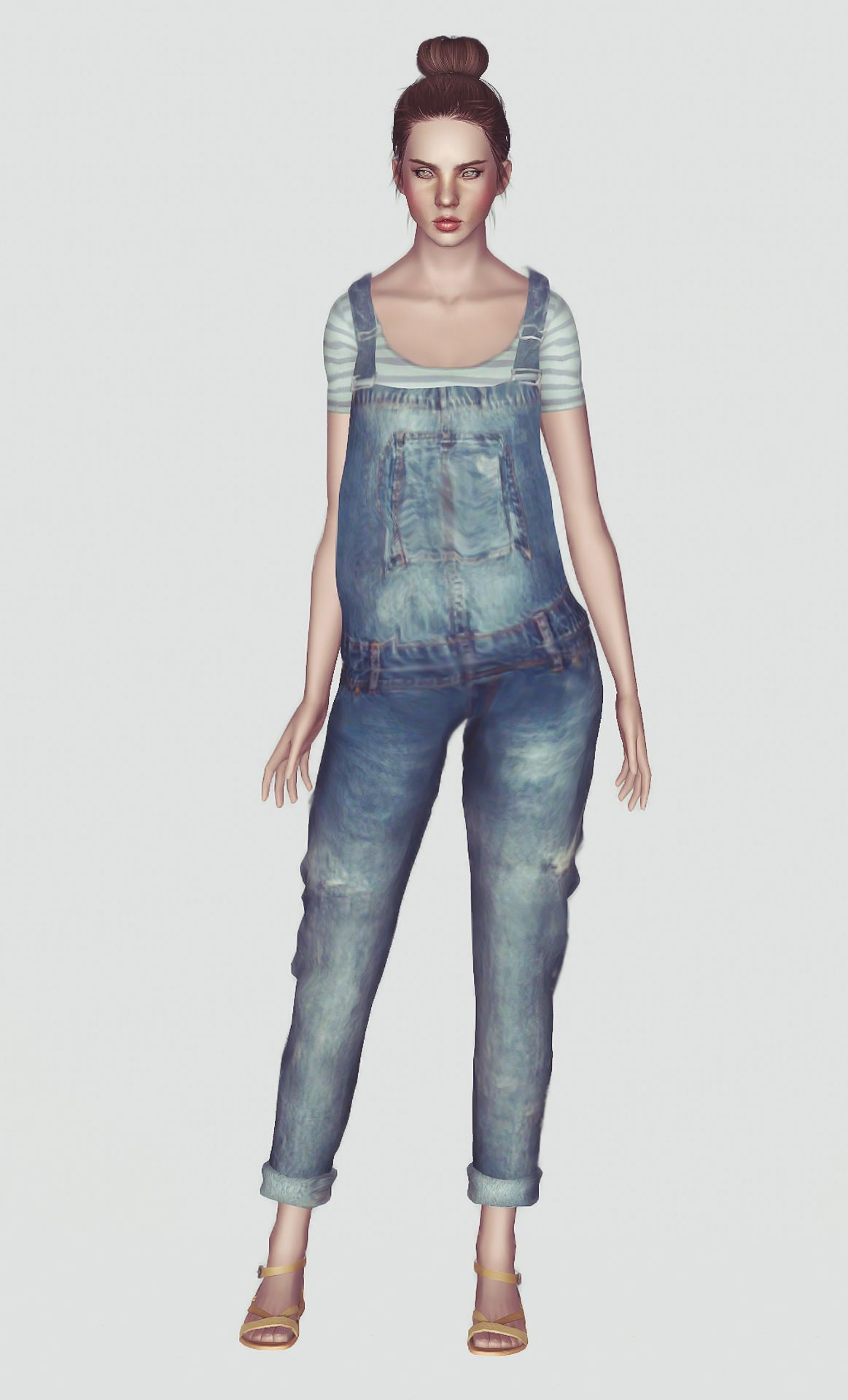 momo: Jean Overalls | The Sims 3 CC female clothes | Pinterest
