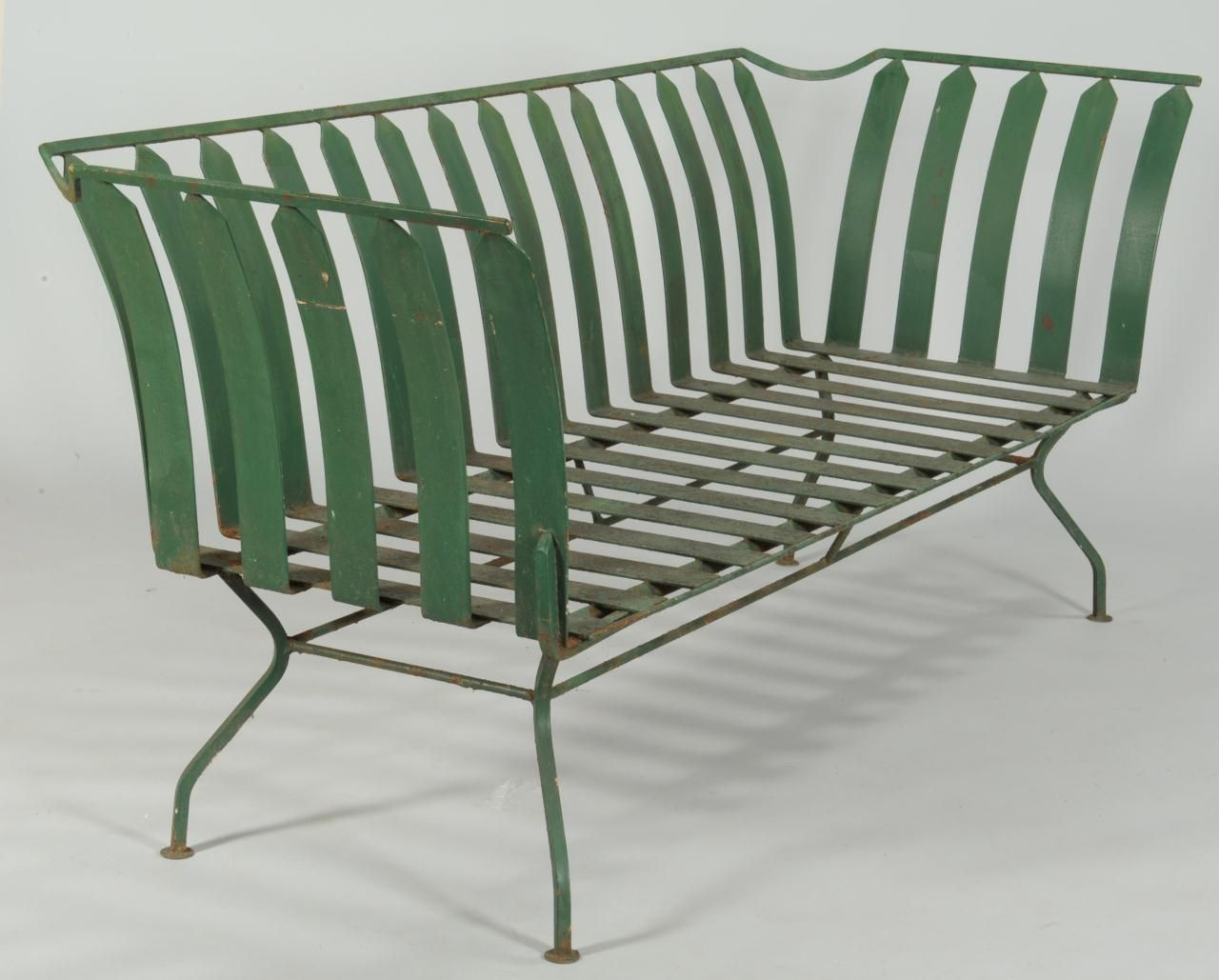 Lot 589 French Art Deco Patio Furniture Settee