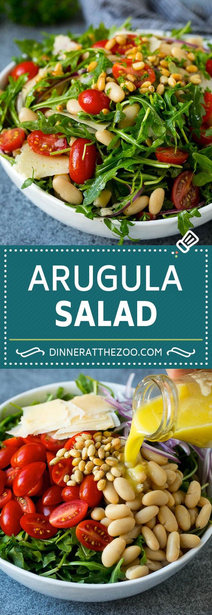 Arugula Salad Recipe | Green Salad | White Bean Salad