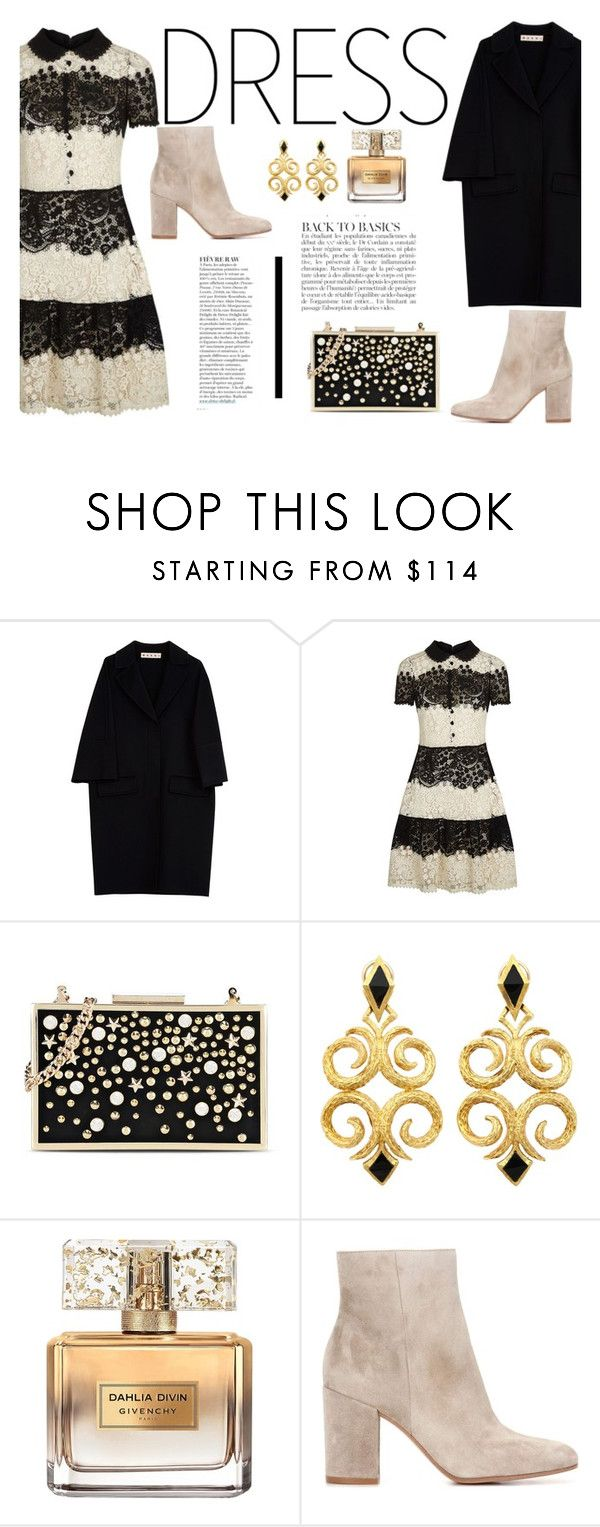"""On Trend: Two-Tone Dresses"" by itsannalombardo ❤ liked on Polyvore featuring Marni, RED Valentino, Karl Lagerfeld, Givenchy, Gianvito Rossi, Anja and twotonedress"