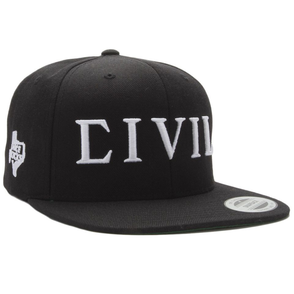 Civil Regime x NICE KICKS x AUSTIN CIVIL TRAP SNAPBACK - Black White ... 53595d1a1b0a