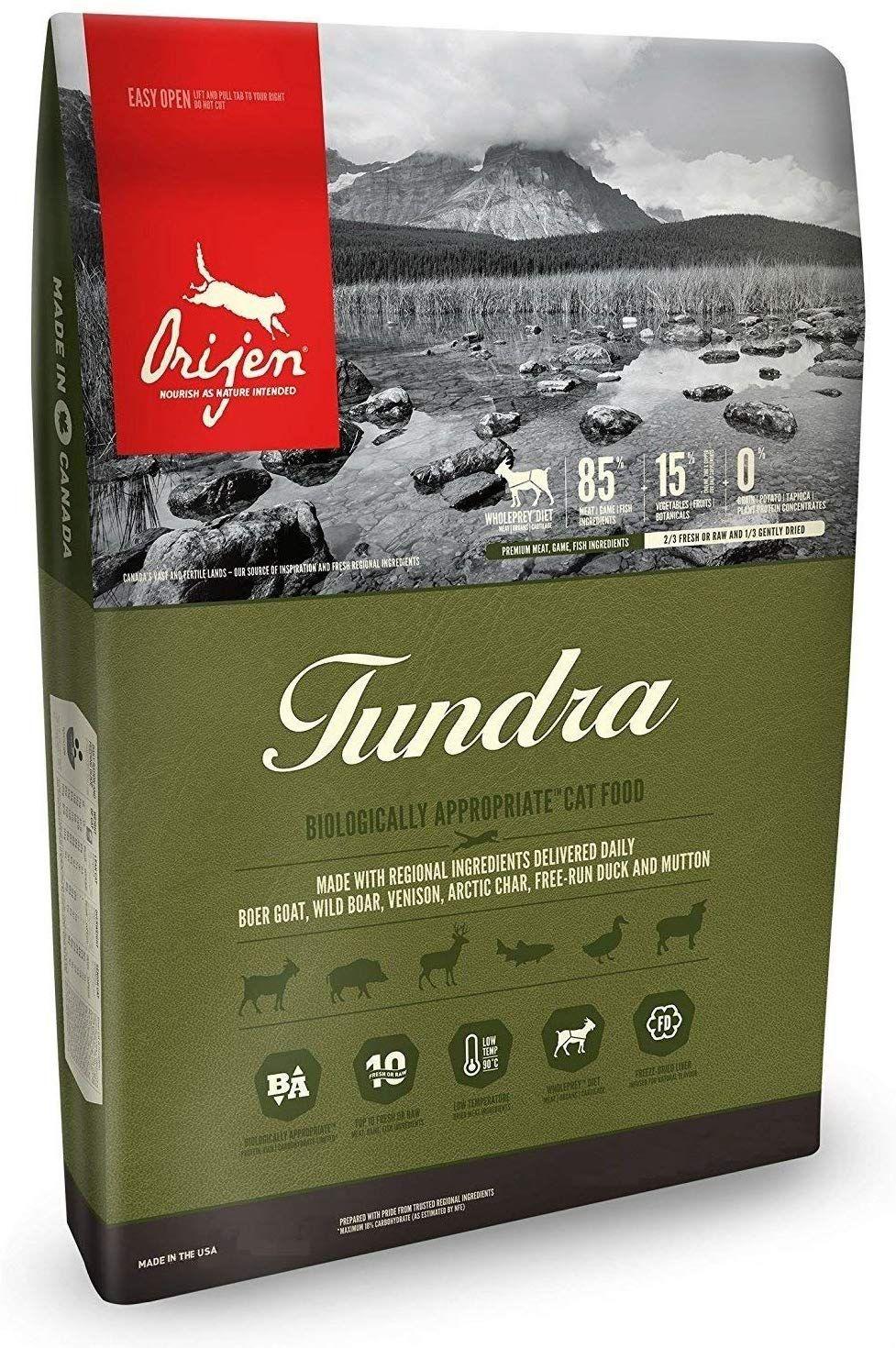 Orijen Tundra Dry Cat Food, Biologically Appropriate, 12