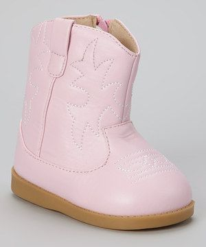 49f81f0342bcd Look at this #zulilyfind! Sneak A' Roos Pink Squeaker Cowboy Boot by ...