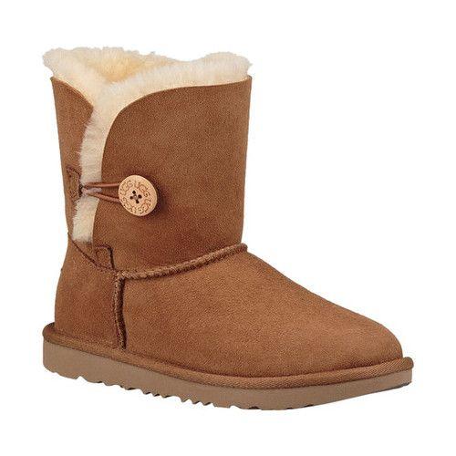 c74b0bd1f Children's UGG Bailey Button II Kids Boot - Chestnut Twinface Boots ...