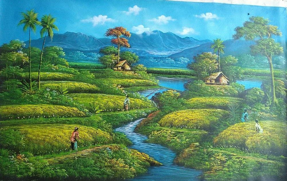 Pin By Pemandangan Alam On Pemandangan Alam Painting Art Nature