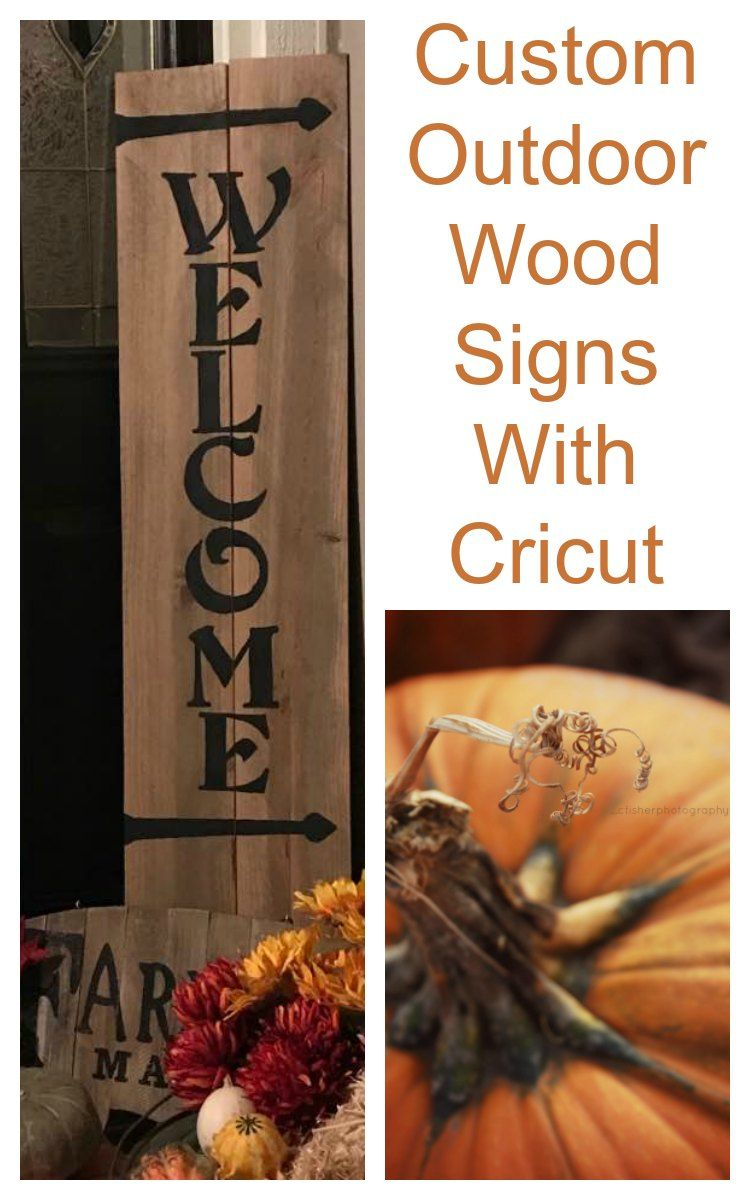 Create wood signs with cricut signs front door