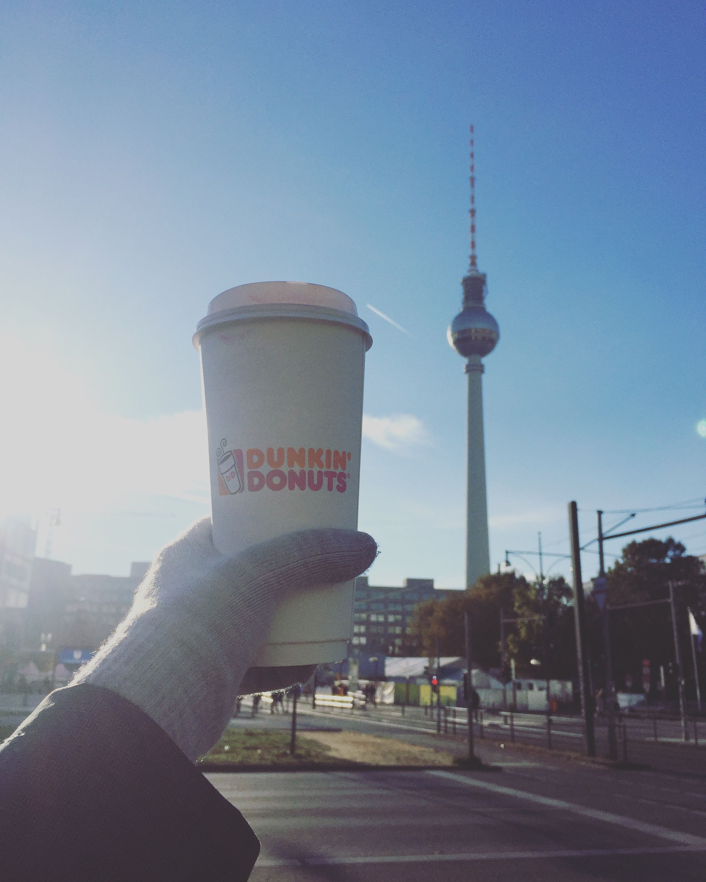 Capitalism and communism disposable coffee cup dunkin